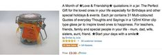 Daily Quotes in a resusable kilner-type jar.  One a Day - Daily Quotes for everyday success, inspiration and motivation.    Amazon Best Sellers