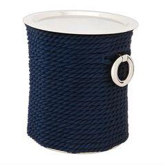 Montego Side Table - Nickel und blaues Seil