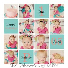The Johnson's Life Online: Paisley's {Birthday} Smash Cake...