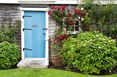 blue door | Nantucket Island