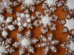 Snowflake Cookie Decorating Inspiraton