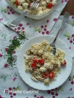 Salade de semoule, poulet et olives vertes Olives, Risotto, Ethnic Recipes, Food, Chicken, Kitchens, Meals, Yemek, Eten