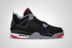 "Air Jordan IV Retro ""Bred""  #sneakers #kicks #jordan"