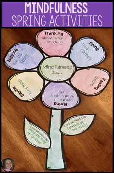 These mindfulness activities for kids are perfect for helping your elementary school students practice mindfulness techniques such as guided imagery, thorough reflection, awareness of thoughts and feelings, close observation and deep breathing. These are perfect for helping students learn relaxation skills, positive coping skills or anxiety. They can be used in school counseling small groups, guidance lessons, or in the classroom. Your students will love the spring theme! #CounselorChelsey
