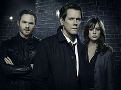 Still of Kevin Bacon, Shawn Ashmore and Jessica Stroup in The Following (2013)