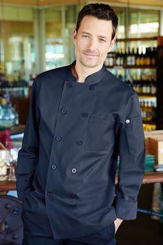 Torino Navy Blue Chef Coat  c36c0fc8e073