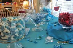 Candy bar for our Baby Boy baby shower.