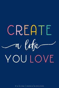 FREE Dream Board Inspirational Printables- Create a life you love!