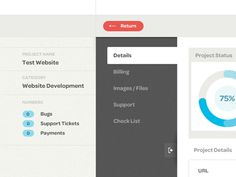 Dribbble - CRM Project Page by Jason Mayo