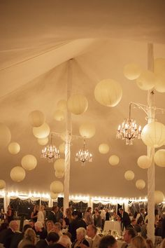 Pole Tent with chandeliers & lanterns create a beautiful dining atmosphere. Tent Decorations, Wedding Decorations, Tent Wedding, Dream Wedding, Ceiling Decor, Ceiling Lights, Grad Parties, Wedding Inspiration, Wedding Ideas