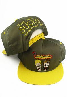 35d13ec4e97 Vintage 1992 Beavis and Butthead Snapbacks MTV Snapback Hat