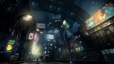 An absolutely cyberpunk city by night, from the game Hard Reset. - Imgur