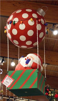 Condo Blues: How to Make Easy DIY Outdoor Giant Christmas Ornament Decorations outdoor christmas decor How to Make Easy DIY Outdoor Giant Christmas Ornament Decorations Santa Decorations, Handmade Christmas Decorations, Holiday Crafts, Outdoor Decorations, Balloon Christmas Decorations, Best Outdoor Christmas Decorations, Large Christmas Ornaments, Simple Christmas, Christmas Crafts
