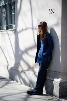 The 26 Best-Dressed People From NYFW, Day 5: Caroline De Maigret. Casually basking in what little warmth the sun has to offer. As one does.