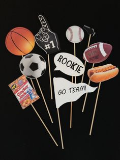 SPORTS Themed Photo Booth Props sports theme by CreatedToParty
