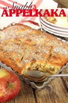 snabb äppelkaka Best Dessert Recipes, No Bake Desserts, Cake Recipes, Norwegian Food, Swedish Recipes, Food Obsession, Sweet Pie, Wonderful Recipe, Pie Dessert