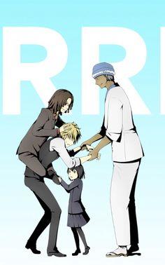 Shizuo, Tom, Akane, and Simon - Durarara!!