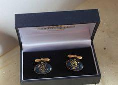 Venice Simplon Orient Express Pair of Luxury Cufflinks. In Original Presentation Box. Made In England. Simplon Orient Express, 22 Carat Gold, Train Service, Classic Gold, Agatha Christie, Venice, Cufflinks, Presentation, England