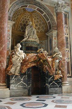 Bernini's Monument to Alexander VII, St. Peter's Basilica