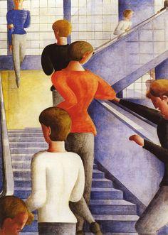 Trappen in het Bauhaus ~ 1932 ~ Olieverf op doek ~ 162,3 x 114,3 cm. ~ The Museum of Modern Art, New York ~ Schenking van Philip Johnson