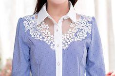 Aliexpress.com: Comprar Elegante oficina mujeres atan Blusas nuevo 2015 estilo coreano de moda Color Block de manga larga mujeres Work Wear Blusas Femininas de camisa hecha en china fiable proveedores en TOP ONE ( Drop Shipping )