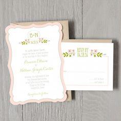 Garden Petal Wedding Invitation