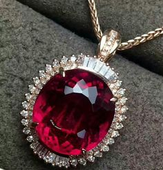 @mak_minerals. The most beautiful natural red tourmaline ring pendant amphibious model (no chain) in 18k rose gold with diamonds Ring size: 18.1 * 16 Pendant: 23 * 16 * 9.1 Gem specification; 12.9 * 11.9 Gem weight: 8.58 grams