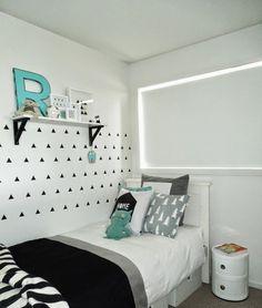 Un dormitorio infantil con toques turquesa y estilo nórdico | Decoración