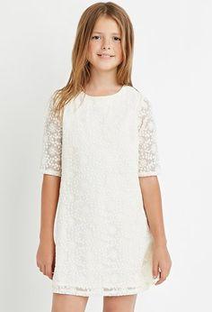 Girls Lace Shift Dress (Kids)   Forever 21 girls - 2000164558