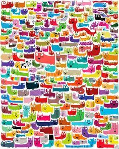 gatitos tapiz
