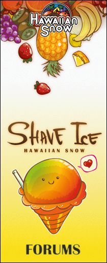 """Hawiian Snow"" brand shave ice syrup is dakine! Hawaiian made of finest ingreds."