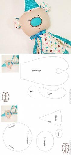 Видео мастер-класс: как сшить текстильного мишку + выкройка - Ярмарка Мастеров - ручная работа, handmade
