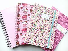 pink, flowers notes school