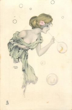 1902 Art Nouveau postcard by Raphael Kirchner