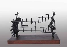 Magamba Zárva I. Locked in Myself I.  2013 vas,fa/ iron,wood  Molnár Levente Szobrász/Sculptor http://www.molnarlevente.com