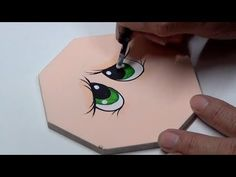 Como pintar ojitos Tímidos - YouTube Foam Crafts, Arts And Crafts, Paper Crafts, Diy And Crafts, Eye Face Painting, Doll Painting, Christmas Crafts To Make And Sell, Doll House Crafts, Flower Pot Crafts