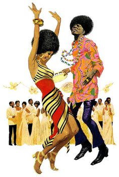 Could this bea vision of Afro Utopia? Illustration by Robert McGinnis Robert Mcginnis, African American Art, African Art, Fond Pop Art, Arte Black, Natural Hair Art, Bond Girls, Black Artwork, Afro Art