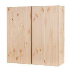 """IKEA - IVAR, Cabinet, 32x12x33 """", , Untreated solid pine is a durable natural material that can be painted, oiled or stained according to preference.You can move shelves and adapt spacing to suit your needs.The hinges are horizontally and vertically adjustable."""