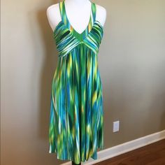 Calvin Klein Watercolor Dress Size 8 Great Condition! Worn once. Calvin Klein Dresses