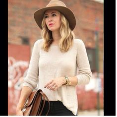 Chic Beige Fedora with Black Bow Hats are a staple in ever girls wardrobe  so add this chic structured fedora to your collection. Brand new without tag. First photo isn't actual hat just an outfit idea. Zara Accessories Hats
