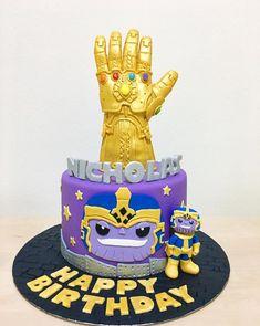Thanos birthday cake avengers birthday cakes, birthday cakes for men, cakes for boys, Birthday Cakes For Men, Avengers Birthday Cakes, Sons Birthday, Cakes For Boys, Marvel Thanos, Pastel Avengers, Marvel Cake, Cake Design Inspiration, Avenger Cake