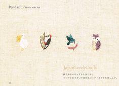 Kawaii Hand Embroidery Designs Hitomi Murakami Japanese