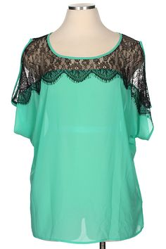 Blondellamy'Dean - Black Lace Mint Top 2x, $38 (http://www.blondellamydean.com/black-lace-mint-top-2x/)
