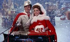 """Tom (Tommy Sands) and Mary (Annette Funicello) take flight in the Christmasy closing shot of 1961's """"Babes in Toyland"""": http://www.dvdizzy.com/babesintoyland-bluray.html"""
