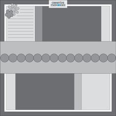 Great-Escape-Sketch-Layout-Paper-Creative-Memories Creative Memories, Scrapbook Layout Sketches, Scrapbooking Layouts, Wedding Scrapbook Pages, Picture Layouts, Layout Template, Templates, Paper Crafts, Inspiration