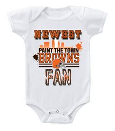 NEW Football Baby Onesie Creeper NFL Cleveland Browns #2