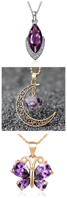 Mysterious color for necklaces. Do you like purple too?