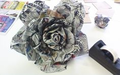 A paper machee rose I made for my Nature vs Man-made assignment