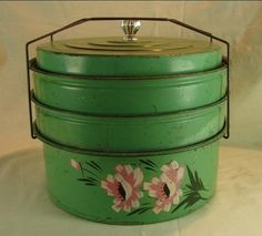 from my collection ...1930s 3 section cake/pie carrier
