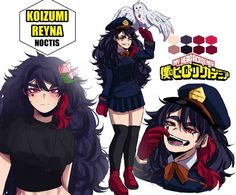 My Hero Academia Costume, Hero Academia Characters, Anime Characters, Anime Oc, Otaku Anime, Character Art, Character Design, Girl Doctor, Himiko Toga